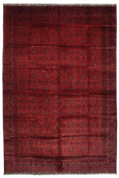 Afghan Khal Mohammadi Covor 406X582 Orientale Lucrat Manual Roșu-Închis Mare (Lână, Afganistan)
