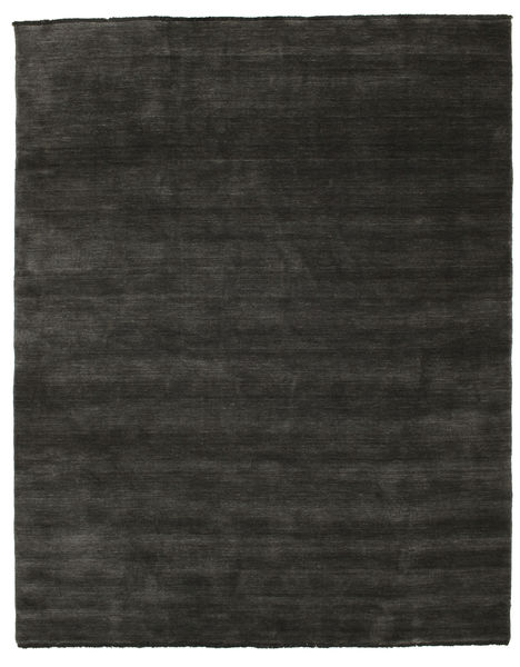 Handloom Fringes - Negru/Gri Covor 200X250 Modern Gri Închis/Negru (Lână, India)