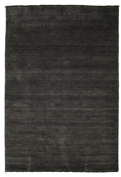 Handloom Fringes - Negru/Gri Covor 160X230 Modern Negru/Gri Închis (Lână, India)