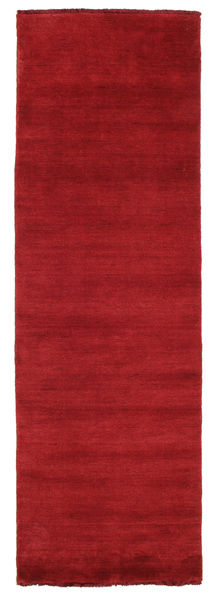Handloom Fringes - Dark Red Covor 80X250 Modern Roşu (Lână, India)