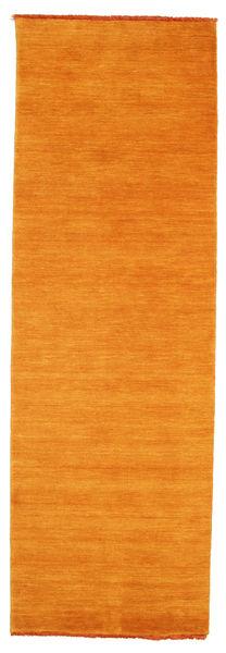 Handloom Fringes - Portocaliu Covor 80X250 Modern Portocaliu/Maro Deschis (Lână, India)