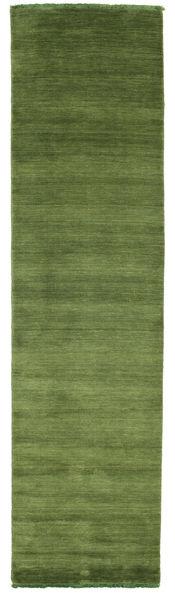 Handloom Fringes - Verde Covor 80X300 Modern Verde Oliv/Verde Închis (Lână, India)