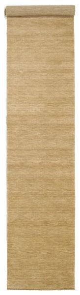 Handloom Fringes - Bej Covor 80X400 Modern Bej Închis/Maro Deschis (Lână, India)