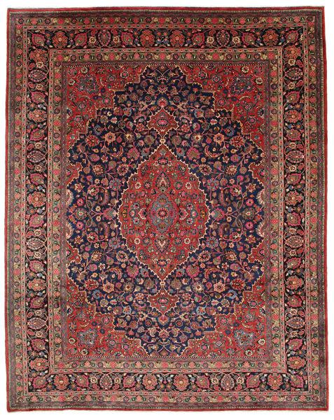 Mashhad Covor 312X395 Orientale Lucrat Manual Roșu-Închis/Maro Închis Mare (Lână, Persia/Iran)