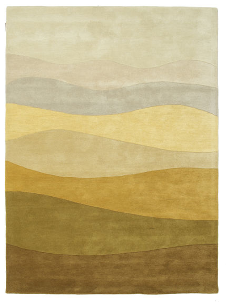 Feeling Handtufted - Maro Covor 160X230 Modern Bej Închis/Verde Oliv (Lână, India)