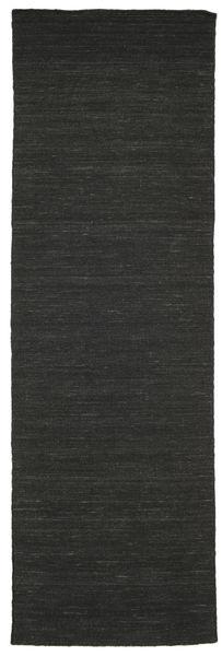 Chilim Loom - Negru Covor 80X250 Modern Lucrate De Mână Negru (Lână, India)