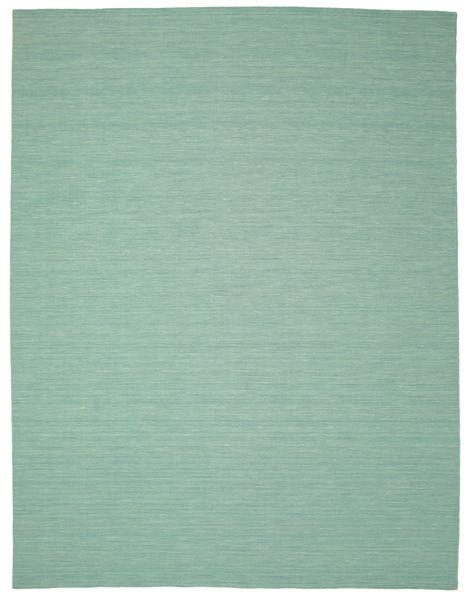 Chilim Loom - Mint Verde Covor 300X400 Modern Lucrate De Mână Verde Pastel/Albastru Turcoaz Mare (Lână, India)