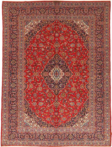 Kashan Covor 292X395 Orientale Lucrat Manual Roșu-Închis/Ruginiu Mare (Lână, Persia/Iran)