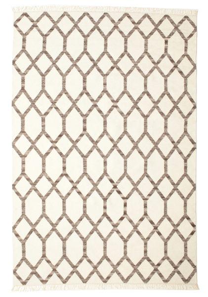 Renzo Covor 200X300 Modern Lucrate De Mână Bej/Gri Deschis (Lână, India)