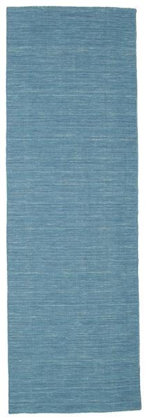 Chilim Loom - Albastru Covor 80X250 Modern Lucrate De Mână Albastru Turcoaz/Albastru (Lână, India)