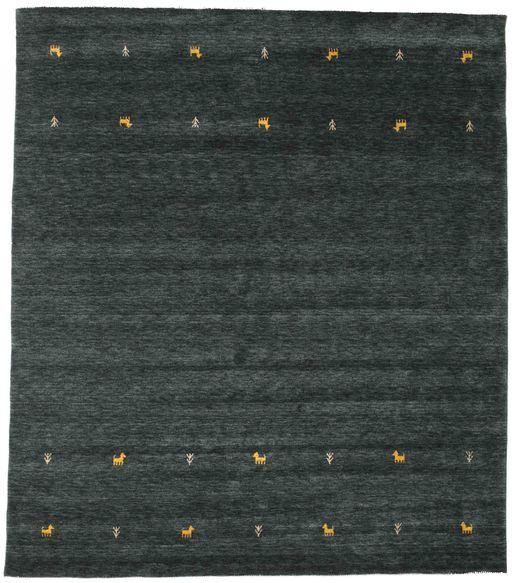 Gabbeh Loom Two Lines - Gri Închis/Verde Covor 240X290 Modern Negru (Lână, India)
