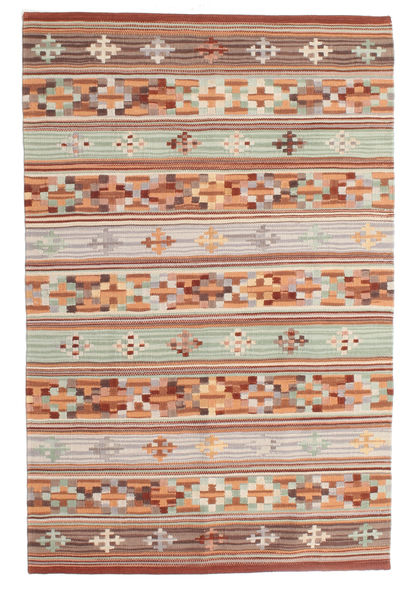 Chilim Anatolian Covor 100X160 Modern Lucrate De Mână Roșu-Închis/Gri Deschis (Lână, India)