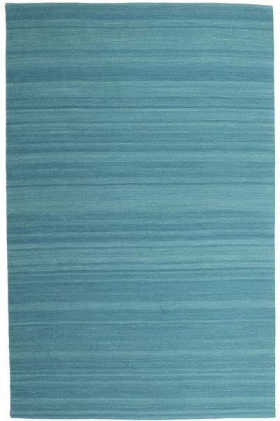 Chilim Loom - Petrol Blue Covor 200X300 Modern Lucrate De Mână Albastru Turcoaz (Lână, India)