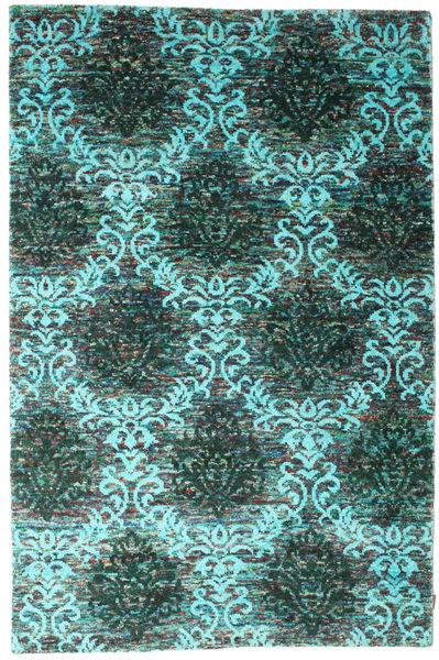 Kamala Covor 190X290 Modern Lucrat Manual Verde Închis/Albastru Turcoaz (Mătase, India)