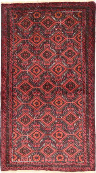 Beluch Covor 105X186 Orientale Lucrat Manual Roșu-Închis/Ruginiu (Lână, Persia/Iran)