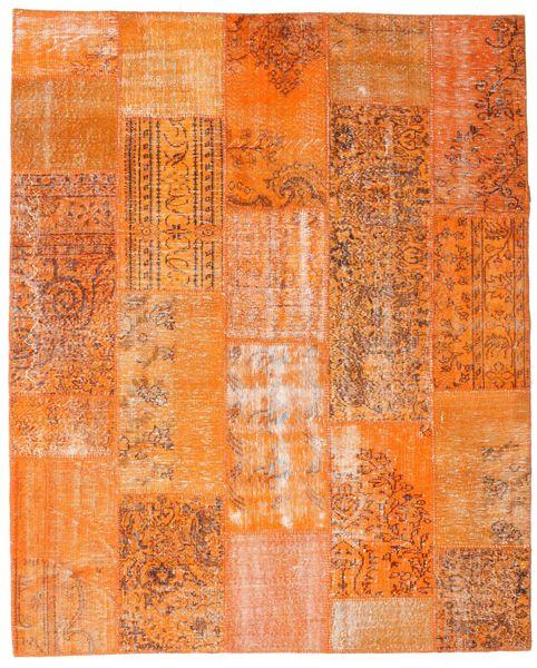 Patchwork Covor 199X247 Modern Lucrat Manual Portocaliu (Lână, Turcia)
