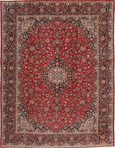 Kashan Covor 293X385 Orientale Lucrat Manual Roșu-Închis/Maro Închis Mare (Lână, Persia/Iran)