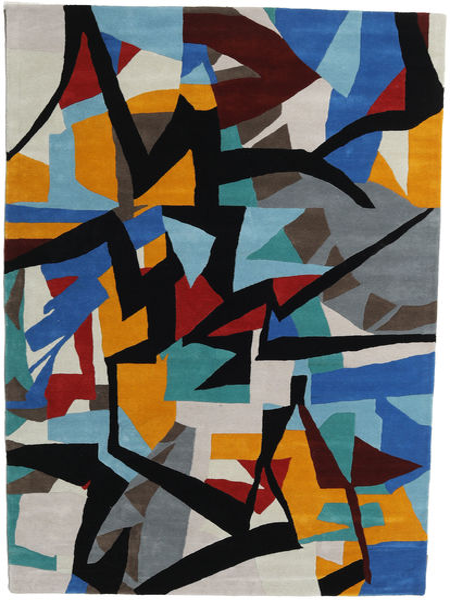 Stefan Covor 200X300 Modern Negru/Albastru (Lână, India)