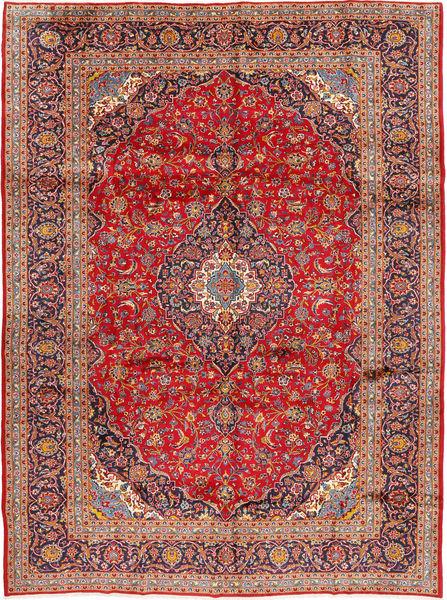 Kashan Covor 298X397 Orientale Lucrat Manual Ruginiu/Roșu-Închis Mare (Lână, Persia/Iran)