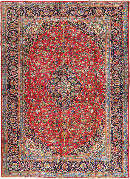 Kashan Covor 288X405 Orientale Lucrat Manual Roșu-Închis/Ruginiu Mare (Lână, Persia/Iran)