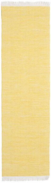 Diamond Lână - Yellow Covor 80X240 Modern Lucrate De Mână Galben/Bej Închis (Lână, India)