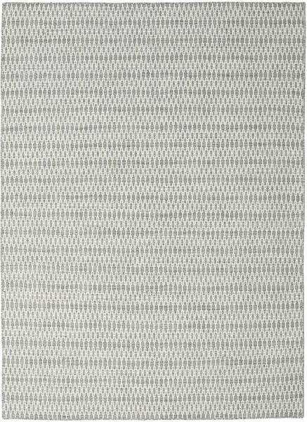 Chilim Long Stitch - Gri Covor 210X290 Modern Lucrate De Mână Gri Deschis/Albastru Turcoaz (Lână, India)