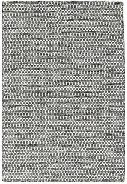 Chilim Honey Comb - Negru/Gri Covor 120X180 Modern Lucrate De Mână Gri Deschis/Gri Închis (Lână, India)