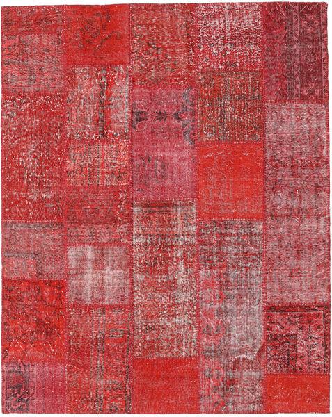 Patchwork Covor 202X255 Modern Lucrat Manual Ruginiu/Roșu-Închis (Lână, Turcia)