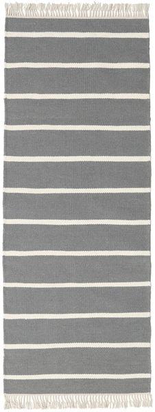 Dorri Stripe - Gri Covor 80X200 Modern Lucrate De Mână Gri Deschis/Gri Închis (Lână, India)