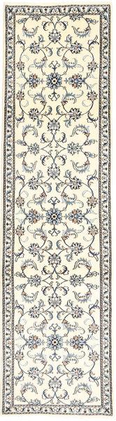 Nain Covor 78X293 Orientale Lucrat Manual Bej/Gri Deschis (Lână, Persia/Iran)