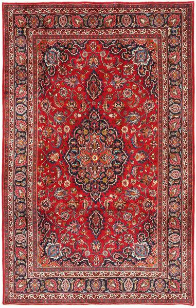 Mashhad Covor 199X317 Orientale Lucrat Manual Roșu-Închis/Ruginiu (Lână, Persia/Iran)