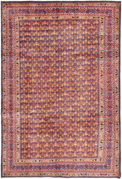 Arak Covor 204X308 Orientale Lucrat Manual Gri Închis/Maro (Lână, Persia/Iran)