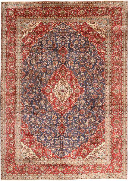 Kashan Covor 297X410 Orientale Lucrat Manual Roșu-Închis/Maro Închis Mare (Lână, Persia/Iran)