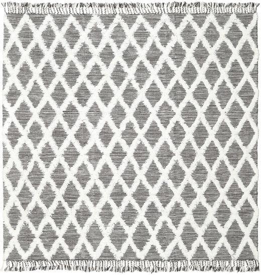 Inez - Maro Închis/White Covor 250X250 Modern Lucrate De Mână Pătrat Gri Deschis/Bej Mare (Lână, India)