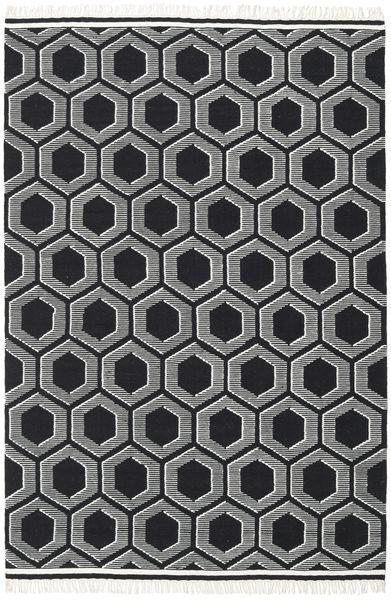 Opti - Negru/White Covor 200X300 Modern Lucrate De Mână Gri Închis (Lână, India)