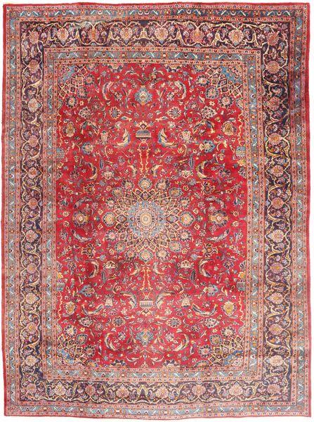 Mashhad Covor 295X395 Orientale Lucrat Manual Roz Deschis/Roșu-Închis Mare (Lână, Persia/Iran)