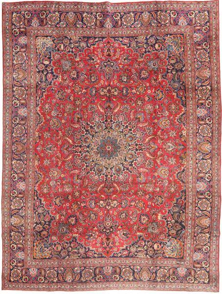 Mashhad Covor 285X375 Orientale Lucrat Manual Roșu-Închis/Roz Deschis Mare (Lână, Persia/Iran)