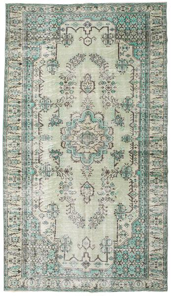 Colored Vintage Covor 187X330 Modern Lucrat Manual Gri Deschis/Bej (Lână, Turcia)