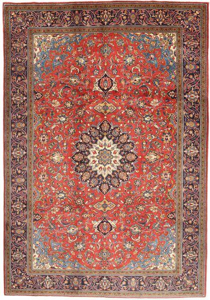 Mahal Covor 210X300 Orientale Lucrat Manual Roșu-Închis/Maro (Lână, Persia/Iran)