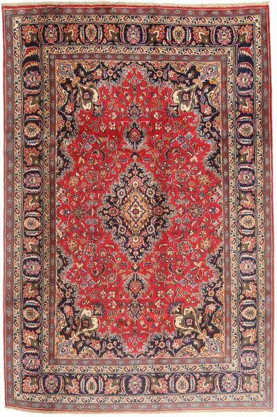 Mashhad Covor 190X290 Orientale Lucrat Manual Roșu-Închis/Ruginiu (Lână, Persia/Iran)