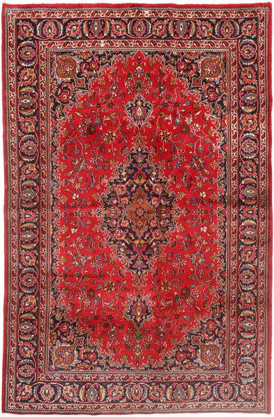 Mashhad Covor 190X293 Orientale Lucrat Manual Roșu-Închis/Maro Închis (Lână, Persia/Iran)