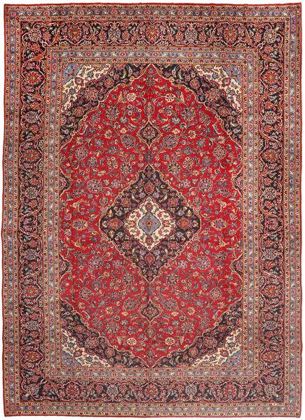 Kashan Covor 300X405 Orientale Lucrat Manual Roșu-Închis/Maro Închis Mare (Lână, Persia/Iran)