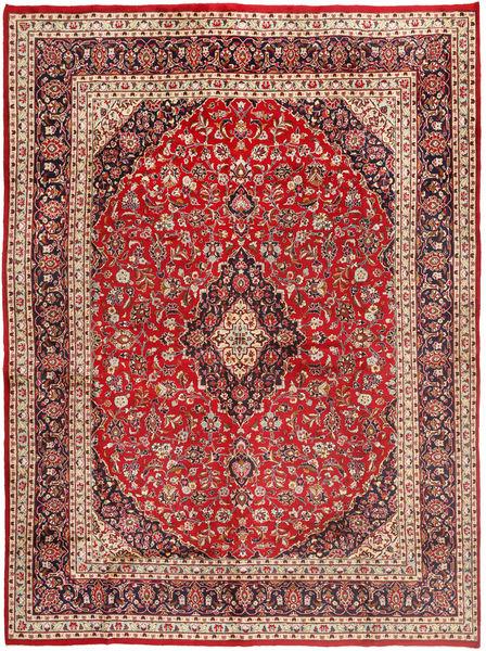 Mashhad Covor 288X388 Orientale Lucrat Manual Roșu-Închis/Ruginiu Mare (Lână, Persia/Iran)