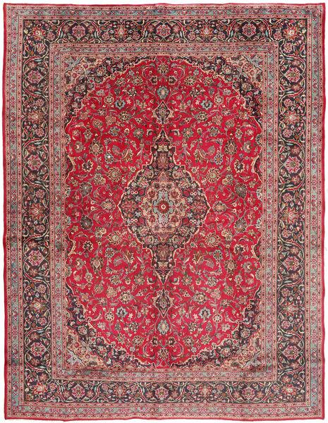Mashhad Covor 293X385 Orientale Lucrat Manual Roșu-Închis/Maro Mare (Lână, Persia/Iran)