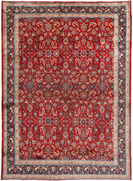 Mashhad Covor 285X390 Orientale Lucrat Manual Roșu-Închis/Maro Închis Mare (Lână, Persia/Iran)