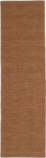 Chilim Loom - Maro Covor 80X300 Modern Lucrate De Mână Maro (Lână, India)