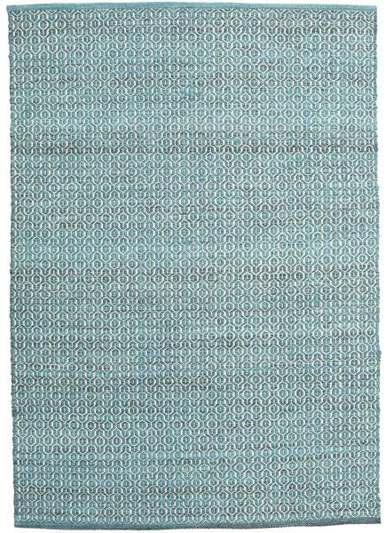 Alva - Turquoise/White Covor 140X200 Modern Lucrate De Mână Albastru Deschis/Albastru Turcoaz (Lână, India)