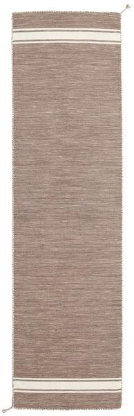 Ernst - Maro Deschis/Alburiu Covor 80X300 Modern Lucrate De Mână Gri Deschis (Lână, India)