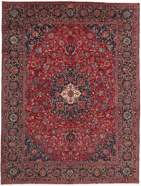 Mashhad Covor 296X394 Orientale Lucrat Manual Roșu-Închis/Gri Închis Mare (Lână, Persia/Iran)