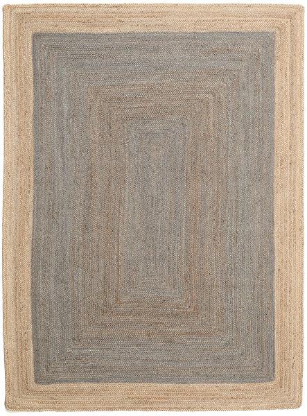 Covor Exterior Frida Frame - Gri/Natural Covor 140X200 Modern Lucrate De Mână Gri Deschis/Bej (Covor De Iută India)